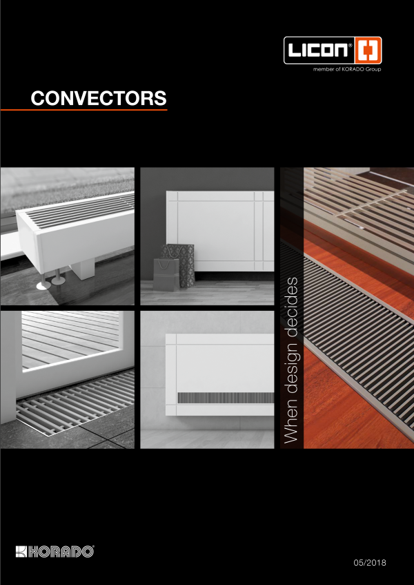 Catalogue of convectors LICON_2018